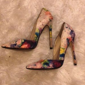 Water color Steve Madden pointy toe heels
